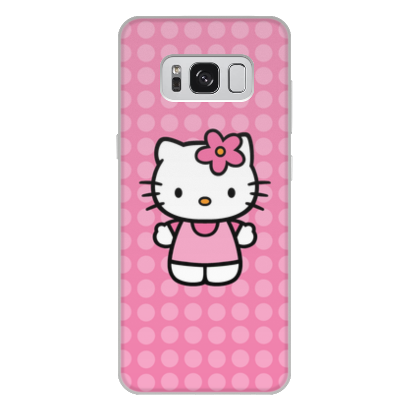 Чехол для Samsung Galaxy S8 Plus, объёмная печать Printio Kitty в горошек леггинсы printio kitty в горошек