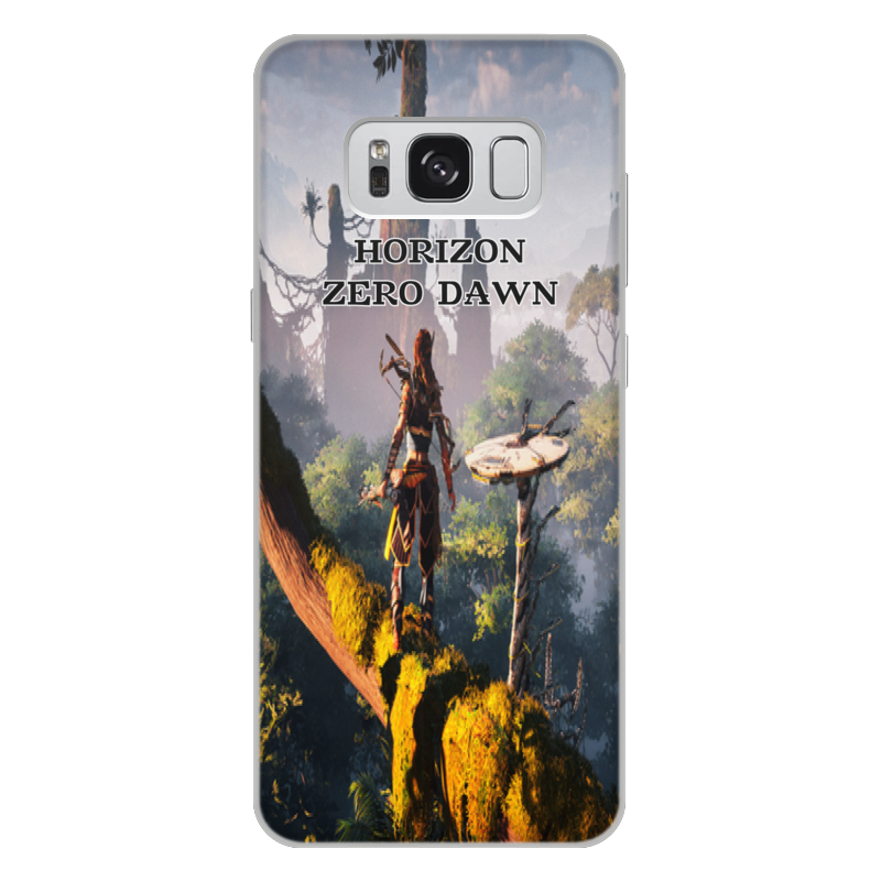 Чехол для Samsung Galaxy S8 Plus, объёмная печать Printio Horizon zero dawn цена