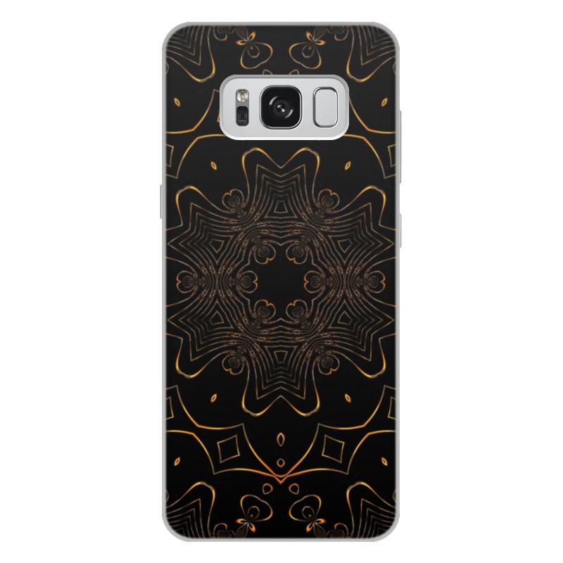 Чехол для Samsung Galaxy S8 Plus, объёмная печать Printio Золотая вязь oem samsung akg s8 headphones earbuds with mic for samsung galaxy s8 s8 plus