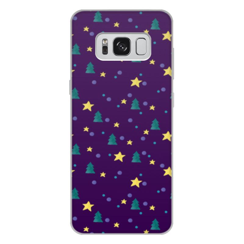 Чехол для Samsung Galaxy S8 Plus, объёмная печать Printio Елки и звезды