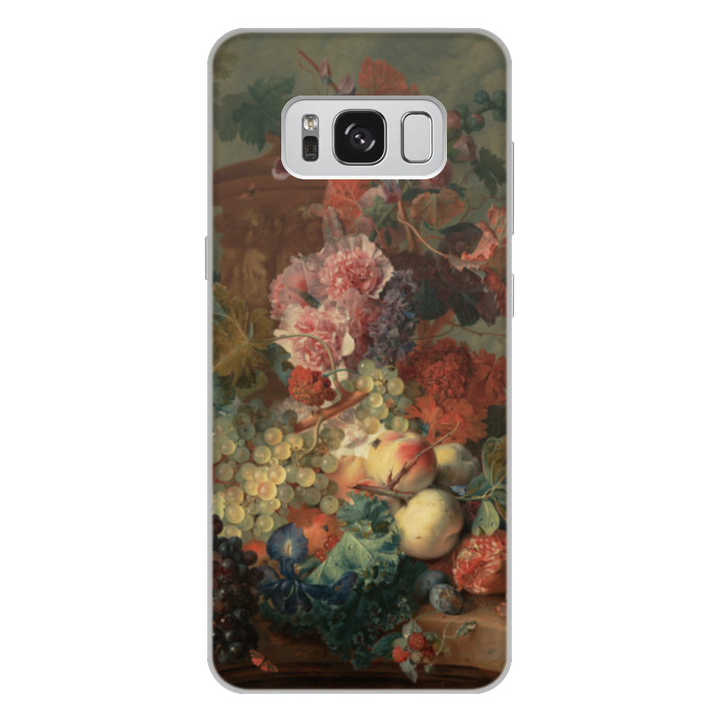 Чехол для Samsung Galaxy S8 Plus, объёмная печать Printio Цветы (ян ван хёйсум) фартук с полной запечаткой printio цветы ян ван хёйсум