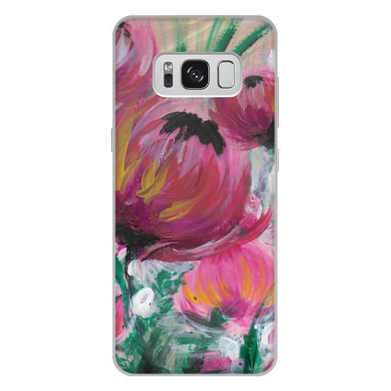 Чехол для Samsung Galaxy S8 Plus, объёмная печать Printio Полевые цветы чехол для ноутбука 12 printio чехол чехол чехол полевые цветы