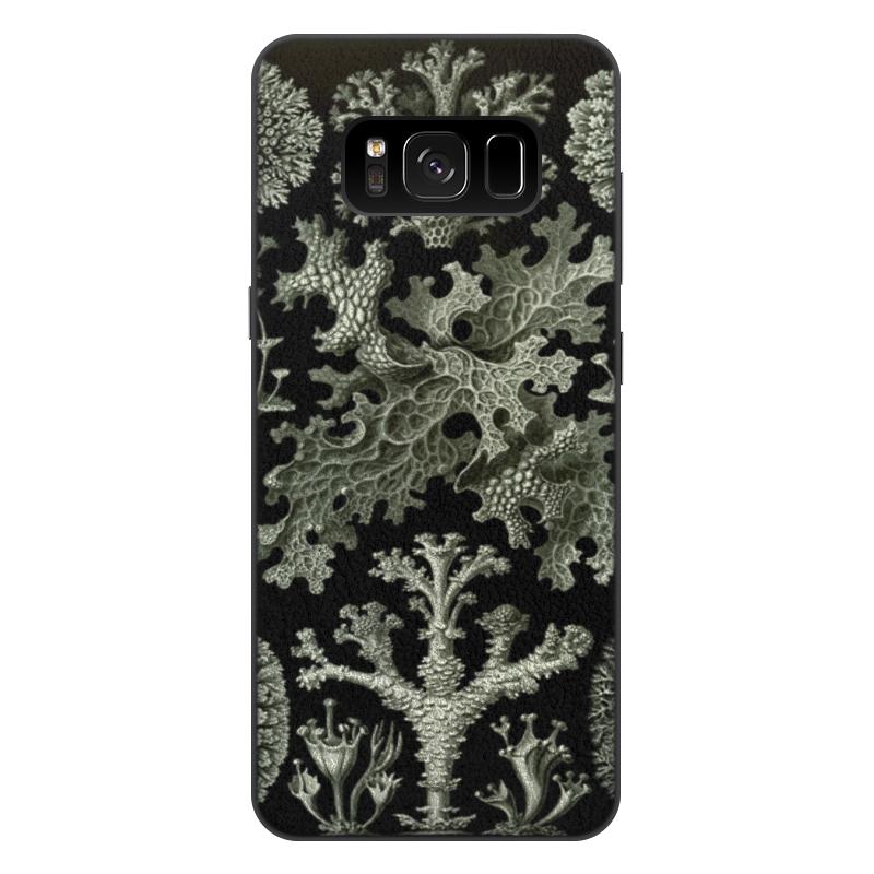 Чехол для Samsung Galaxy S8 Plus, объёмная печать Printio Лишайники (lichenes, ernst haeckel) чехол для samsung galaxy s7 edge силиконовый printio лишайники lichenes ernst haeckel