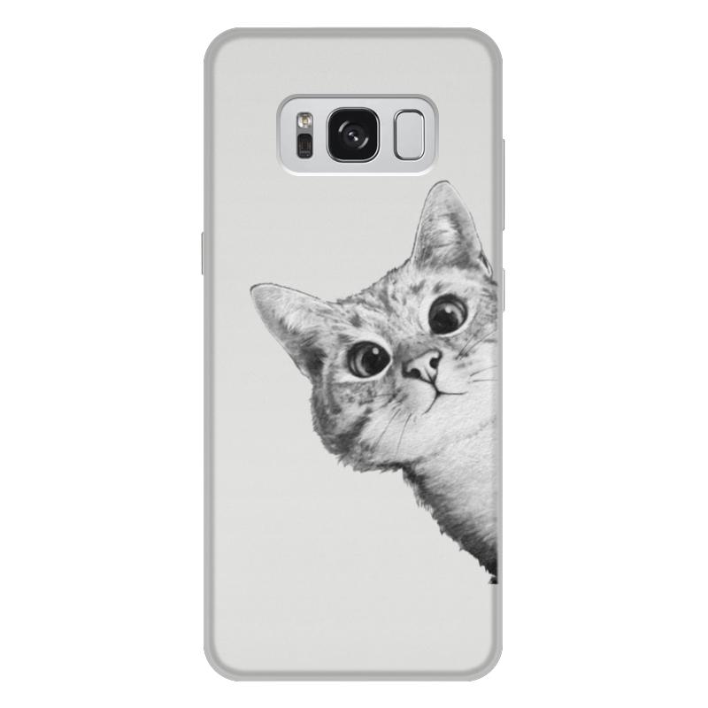 Чехол для Samsung Galaxy S8 Plus, объёмная печать Printio Любопытный кот texet tm b216 красный мобильный телефон