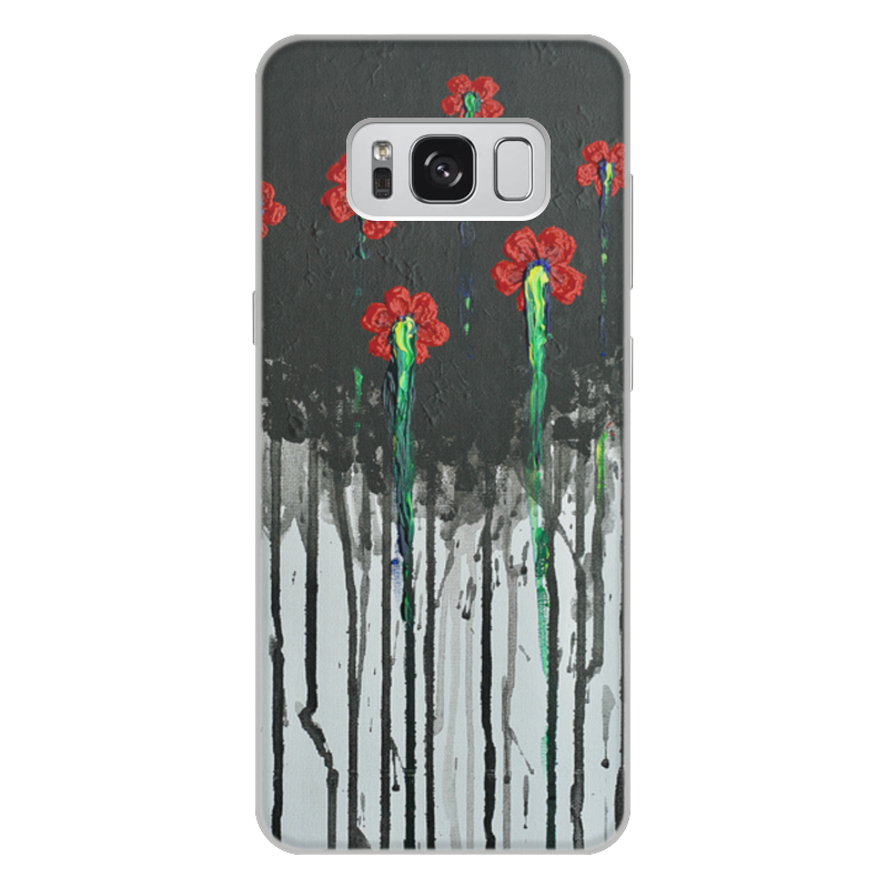 Чехол для Samsung Galaxy S8 Plus, объёмная печать Printio Красные маки бомбер printio красные маки