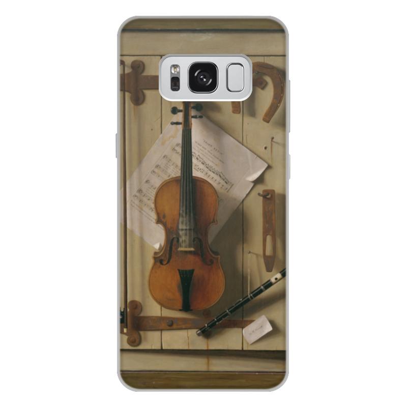 Чехол для Samsung Galaxy S8 Plus, объёмная печать Printio Натюрморт со скрипкой (уильям харнетт) чехол для samsung galaxy s5 printio натюрморт со скрипкой уильям харнетт