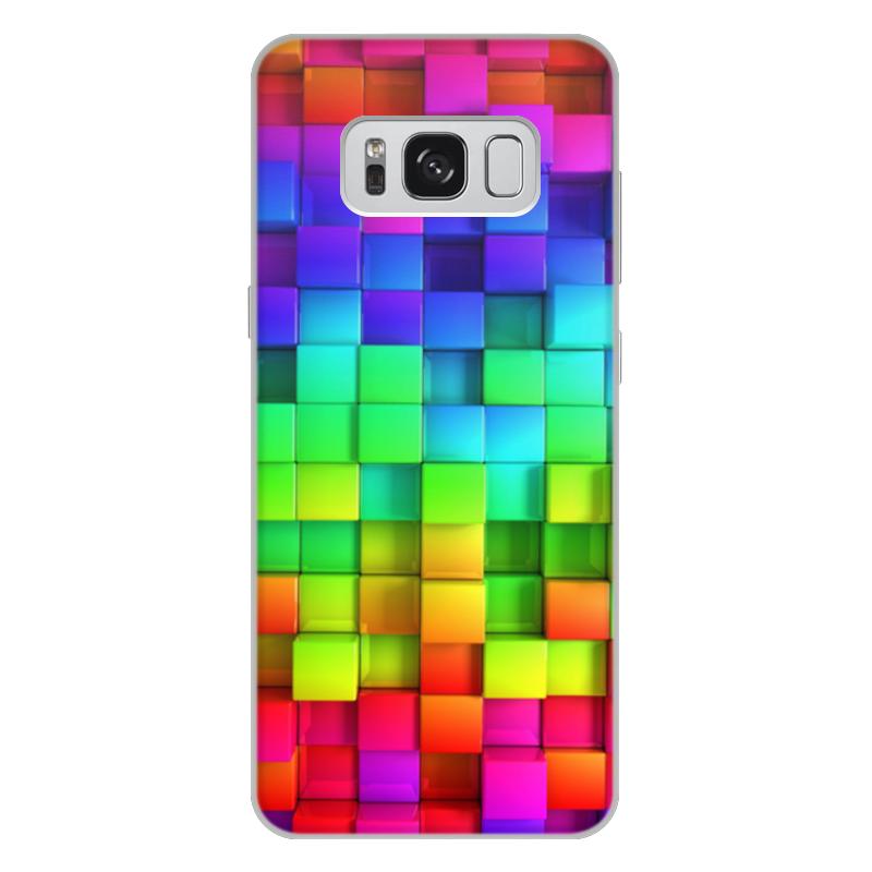 Чехол для Samsung Galaxy S8 Plus, объёмная печать Printio Яркие краски mooncase ультратонкий перо печать shell светящиеся краски мягкой тпу дело прикрытия wileyfox swift
