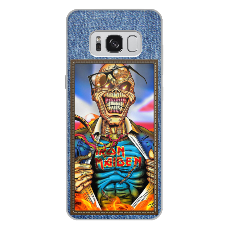 Чехол для Samsung Galaxy S8 Plus, объёмная печать Printio Iron maiden patch actualdesign тумба apriori l