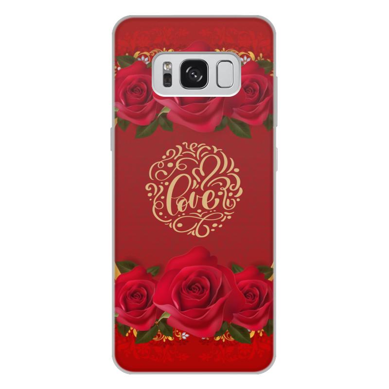 Чехол для Samsung Galaxy S8 Plus, объёмная печать Printio День св. валентина