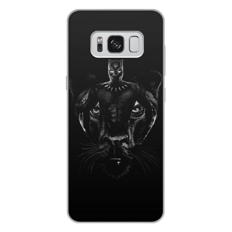 Чехол для Samsung Galaxy S8 Plus, объёмная печать Printio Черная пантера