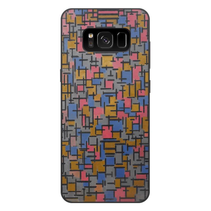 Чехол для Samsung Galaxy S8 Plus, объёмная печать Printio Композиция (питер мондриан) чехол для samsung galaxy s5 printio бродвей буги вуги питер мондриан