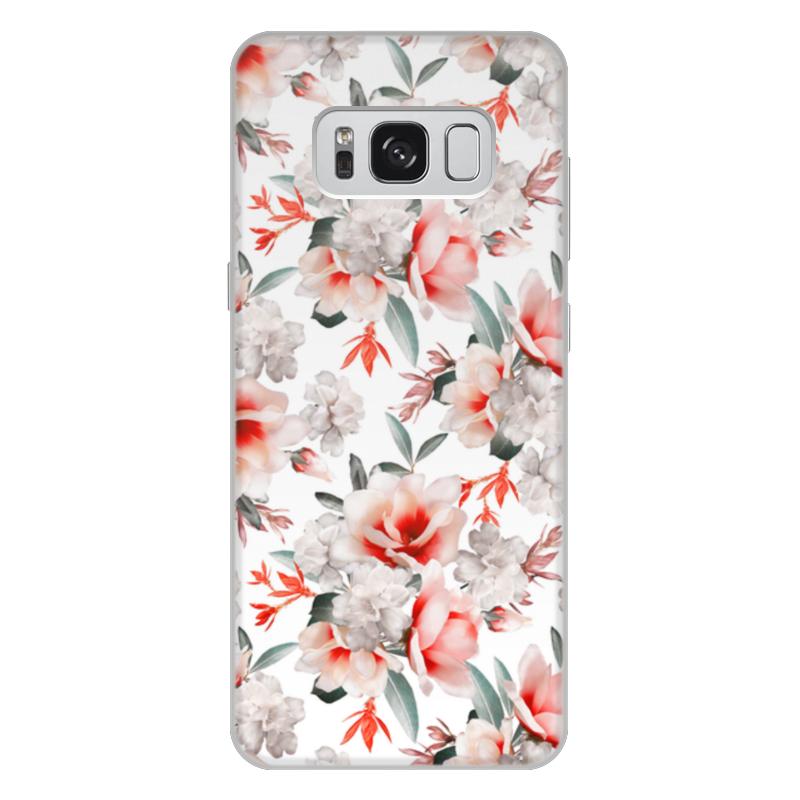 Чехол для Samsung Galaxy S8 Plus объёмная печать Printio Цветы