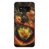 """Чехол для Samsung Galaxy S8 Plus, объёмная печать """"Dragon Fire"""" - змея, дракон, огонь"""