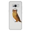 """Чехол для Samsung Galaxy S8 Plus, объёмная печать """"Сова в наушниках"""" - наушники, птица, сова, owl, striges"""