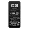 """Чехол для Samsung Galaxy S8 Plus, объёмная печать """"Манта для настоящих мужчин (черный вариант)"""" - праздник, мужчина, подарок, пожелания, мантра"""