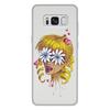 """Чехол для Samsung Galaxy S8 Plus, объёмная печать """"Без ума от цветов"""" - любовь, девушка, цветы, сердца, блондинка"""