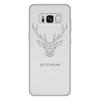 """Чехол для Samsung Galaxy S8 Plus, объёмная печать """"Dear Deer"""" - рисунок, дизайн, олень, минимализм, рога"""