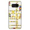 """Чехол для Samsung Galaxy S8 Plus, объёмная печать """"Бродвей буги-вуги (Питер Мондриан)"""" - картина, живопись, мондриан"""