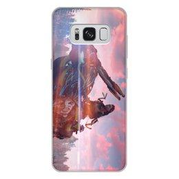 """Чехол для Samsung Galaxy S8 Plus, объёмная печать """"Horizon Zero Dawn"""" - истребитель, horizon zero dawn, zero dawn, собек, длинношей"""