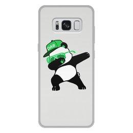 """Чехол для Samsung Galaxy S8 Plus, объёмная печать """"Dab Panda """" - животные, панда, panda, дэб, dab"""