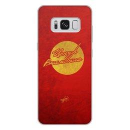 """Чехол для Samsung Galaxy S8 Plus, объёмная печать """"Центр Внимания - Ego Sun"""" - золото, солнце, леттеринг, эго, престиж"""