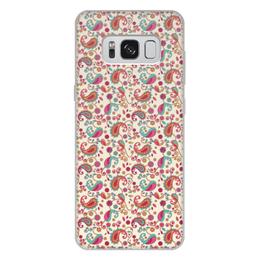 """Чехол для Samsung Galaxy S8 Plus, объёмная печать """"Пейсли (Яркий)"""" - пейсли, узор, цветок, цветы, лепестки"""