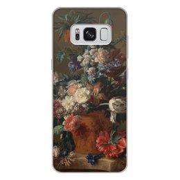 "Чехол для Samsung Galaxy S8 Plus, объёмная печать ""Ваза с цветами (Ян ван Хёйсум)"" - цветы, картина, живопись, натюрморт, ян ван хёйсум"