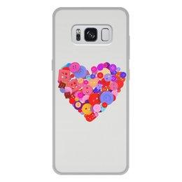"""Чехол для Samsung Galaxy S8 Plus, объёмная печать """"День всех влюбленных"""" - любовь, день святого валентина, валентинка, i love you, день влюбленных"""