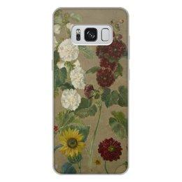 """Чехол для Samsung Galaxy S8 Plus, объёмная печать """"Цветы (картина Эжена Делакруа)"""" - цветы, картина, живопись, делакруа, романтизм"""
