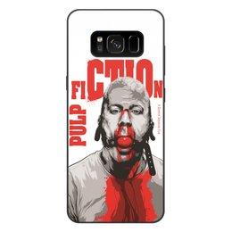"""Чехол для Samsung Galaxy S8 Plus, объёмная печать """"Pulp Fiction (Брюс Уиллис)"""" - pulp fiction, брюс уиллис, культовое кино, тарантино, криминальное чтиво"""