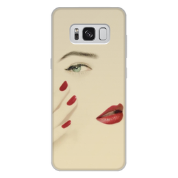 """Чехол для Samsung Galaxy S8 Plus, объёмная печать """"Подруге"""" - девушка, 8 марта, дружба, подарок, минимализм"""