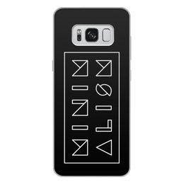 """Чехол для Samsung Galaxy S8 Plus, объёмная печать """"Минимализм"""" - надпись, текст, геометрия, буквы, минимализм"""
