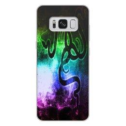 """Чехол для Samsung Galaxy S8 Plus, объёмная печать """"Рейзер"""" - фирма, компьютеры, технологии, razer, рейзер"""