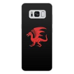 """Чехол для Samsung Galaxy S8 Plus, объёмная печать """"дракон"""" - крылья, животные, дракон, dragon, динозавр"""