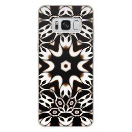 """Чехол для Samsung Galaxy S8 Plus, объёмная печать """"Кофейный"""" - подарок, абстракция, фрактал, digital art, спектр"""