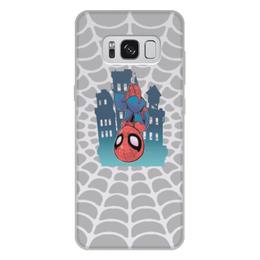 """Чехол для Samsung Galaxy S8 Plus, объёмная печать """"Человек-Паук"""" - spider man, мстители, человек паук, марвел, война бесконечности"""