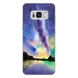 """Чехол для Samsung Galaxy S8 Plus, объёмная печать """"Природа"""" - звезды, небо, краски, природа, пейзаж"""