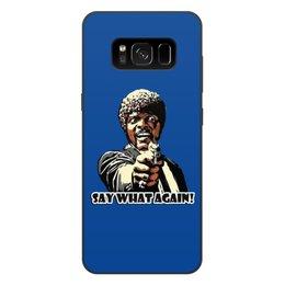 """Чехол для Samsung Galaxy S8 Plus, объёмная печать """"Pulp Fiction (Сэмюэл Джексон)"""" - pulp fiction, культовое кино, тарантино, сэмюэл лерой джексон, криминальное чтиво"""