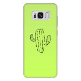 """Чехол для Samsung Galaxy S8 Plus, объёмная печать """"кактус"""" - цветы, растения, кактус, иголки, кактусы"""