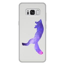 """Чехол для Samsung Galaxy S8 Plus, объёмная печать """"Space animals"""" - space, космос, fox, лиса, астрономия"""