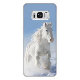 """Чехол для Samsung Galaxy S8 Plus, объёмная печать """"Лошадь"""" - лошадь, фотография, животное, конь"""
