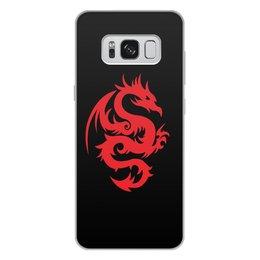 """Чехол для Samsung Galaxy S8 Plus, объёмная печать """"ДРАКОНЫ ФЭНТЕЗИ. СИМВОЛИКА"""" - стиль, дракон, красота, эмблема, символ"""