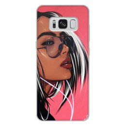 "Чехол для Samsung Galaxy S8 Plus, объёмная печать ""Dream Girl"" - music, digitalart, girl, pink"
