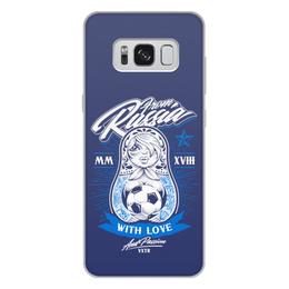 "Чехол для Samsung Galaxy S8 Plus, объёмная печать ""Футбол"" - футбол, спорт, матрёшка"