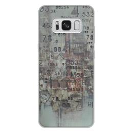 "Чехол для Samsung Galaxy S8 Plus, объёмная печать ""Цифры"" - арт, цифры, фактурный"