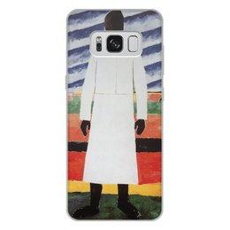 """Чехол для Samsung Galaxy S8 Plus, объёмная печать """"Крестьянка (Казимир Малевич)"""" - картина, живопись, супрематизм, авангард, малевич"""