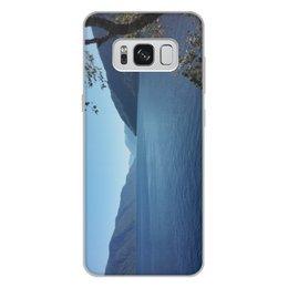 """Чехол для Samsung Galaxy S8 Plus, объёмная печать """"Удивительный Алтай"""" - лето, озеро, телецкое озеро, горный алтай, алтай"""