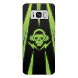 "Чехол для Samsung Galaxy S8 Plus, объёмная печать ""Skull"" - skull, music, dubstep"