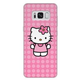 """Чехол для Samsung Galaxy S8 Plus, объёмная печать """"Kitty в горошек"""" - мультик, hello kitty, мультфильм, для детей, привет китти"""