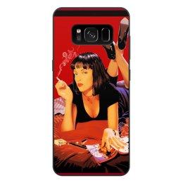 "Чехол для Samsung Galaxy S8 Plus, объёмная печать ""Pulp Fiction (Ума Турман)"" - mia, тарантино, ума турман, культовое кино, криминальное чтиво"